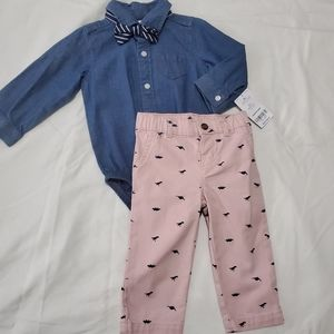 Bowtie outfit 9mth
